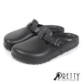 N-01500 全尺寸/男女款-防水前包後空拖鞋/穆勒鞋/雨鞋【Pretty】