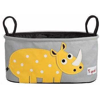 【愛吾兒】加拿大 3 Sprouts推車置物袋-小犀牛 台灣授權代理商 保證正品