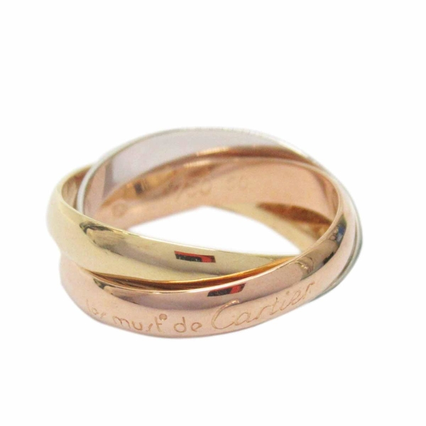 Cartier 卡地亞 Trinity系列 18K金三色三環戒 Trinity Ring #50 【BRAND OFF】