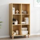 書架 書架落地北歐家用多功能客廳收納櫃經濟型簡約現代臥室書櫃置物架 mks薇薇