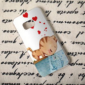 三星 Samsung Galaxy Note 7 手機殼 軟殼 保護套 W 兩個世界 貓戀魚