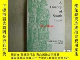 二手書博民逛書店A罕見history of South India from prehistoric times to the f