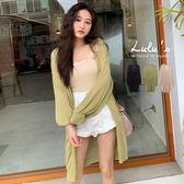 LULUS-M同色釦薄針織長版外套-3色  【03190016】