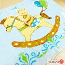 TOKYO東京西川 木馬小熊童用發熱毛毯(100X140)藍