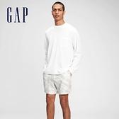 Gap男裝 街頭風紮染寬鬆運動短褲 684832-灰色紮染