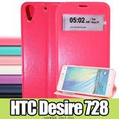 E68精品館 HTC Desire 728 D728 ROAR 超薄視窗皮套 隱形磁扣 開窗 透視 軟殼 支架 手機套
