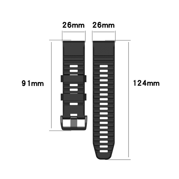 【矽膠錶帶】Garmin Descent Mk1 潛水電腦錶 快拆 快扣 錶帶 26mm