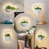 壁燈床頭臥室燈北歐現代簡約電視背景牆壁燈創意樓梯YYJ 易家樂