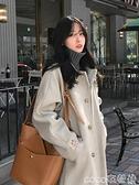 冬季毛呢外套女赫本風中長款2021新款加厚小個子大衣秋冬百搭呢子 coco