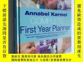 二手書博民逛書店Annabel罕見Karmel s Complete First Year Planner 育兒餵養 精裝Y2