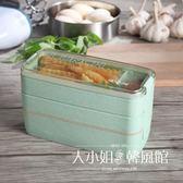 日式微波爐飯盒便當盒學生帶蓋食堂多層分格健身減肥脂餐成人餐盒-大小姐韓風館