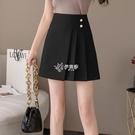 不規則半身裙女包臀裙春夏新款百褶裙高腰顯瘦短款A字裙減齡