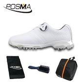 高爾夫球鞋 女士運動鞋 golf 防滑防水鞋 旋扣鞋帶球鞋 GSH115WHT