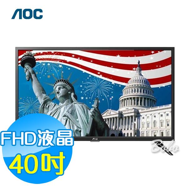 美國AOC 40吋FHD液晶顯示器+視訊盒 40M3080