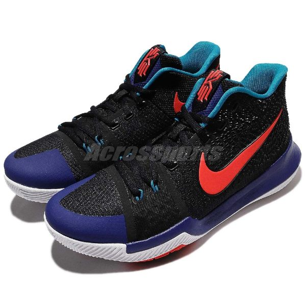 Nike 籃球鞋 Kyrie 3 EP Kyrache Light 黑 藍 橘紅 男鞋 ZOOM AIR 【PUMP306】 852396-007