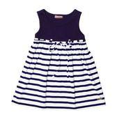 『小鱷魚童裝』拼接條紋洋裝(01號~10號)561303