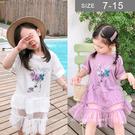 韓版女童洋裝。ROUROU童裝。夏女童中...