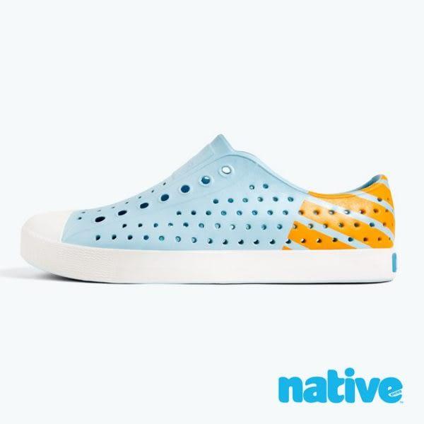 【native】JEFFERSON BLOCK 男/女鞋-濕地藍x夜光橘
