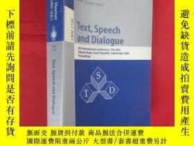 二手書博民逛書店Text,罕見Speech and Dialogue: 4th Internation... (小16開 ) 【詳