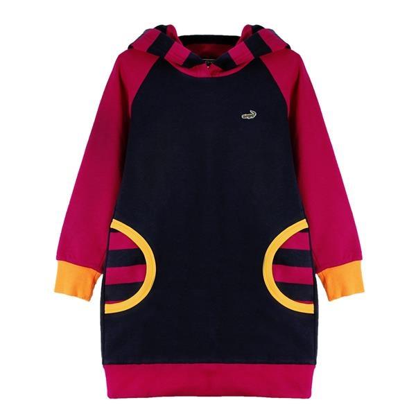 『小鱷魚童裝』連帽假口袋洋裝(02號~06號)532303