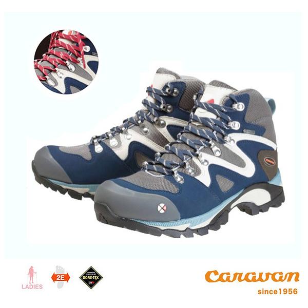 【日本Caravan】 C4_03 戶外登山健行鞋 -  海軍藍 (女性款)