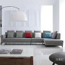L型沙發【UHO】布斯里L型棉麻布沙發 ...