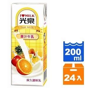 光泉 保久調味乳-果汁牛乳 200ml (24入)/箱【康鄰超市】