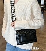 法國小眾包包女新款潮韓版單肩高級感洋氣網紅時尚菱格側背包 極簡雜貨
