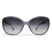 CHANEL 香奈兒 灰框黑色偏光漸層鏡片水晶太陽眼鏡 【BRAND OFF】