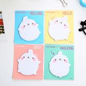 【03385】 可愛白胖兔 便利貼 N次貼 便條紙 留言 便籤 兔子 辦公室
