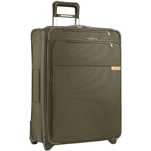 【終身保固 Briggs & Riley 超輕量系列 U125CX-7】Baseline 25吋兩輪快速擴充旅行箱(卡其)