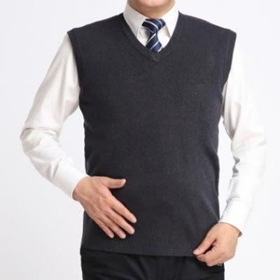羊毛背心-時尚簡約休閒V領無袖男針織衫5色73ig7【時尚巴黎】