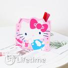 ﹝Kitty45週年筆筒﹞正版 筆筒 收納盒 置物盒 木櫃 文具 凱蒂貓〖LifeTime一生流行館〗