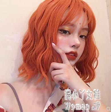 假髮男短卷髮女裝偽娘橙色假毛日常動漫cos全頭套 JY6760【潘小丫女鞋】