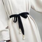 腰鏈 腰封 腰繩繫帶百搭氣質蕾絲花邊蝴蝶結 簡約裝飾連身裙長條腰帶女  店慶降價