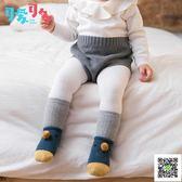 寶寶襪 嬰兒襪子春秋冬純棉0-1歲新生寶寶地板襪防滑加厚保暖兩件套鞋襪 快樂母嬰