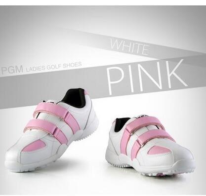 食尚玩家 PGM高爾夫球鞋女士運動鞋子魔術貼鞋帶秀氣女鞋超防水