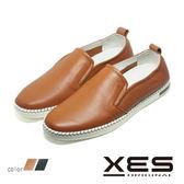 男鞋 XES 男仕休閒 平底懶人鞋 樂福鞋 時尚休閒鞋_優質棕