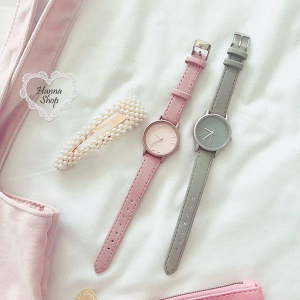 《花花創意会社》清新小錶徑文藝仿几皮女錶。三色【H6348】