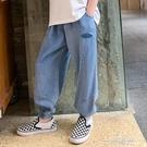 男童牛仔九分褲夏季薄款兒童天絲棉防蚊褲寬鬆中大童男孩夏裝褲子 一米陽光