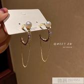 【買一送一】 高級感耳飾個性設計感圓圈耳環女2021年新款潮韓國氣質網紅耳墜 夏季新品