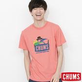CHUMS 日本 男 登山客 RAYON Trecking Booby 短袖T恤 粉紅 CH011098R018