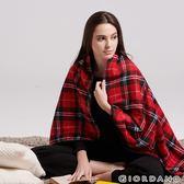 【GIORDANO】Homewear系列厚實保暖格紋刷毛毯-25 紅黑格紋