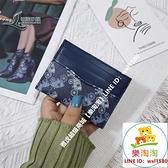 短夾長夾歐美印花零錢包女短款韓版簡約個性超薄卡包駕駛證一體包【樂淘淘】