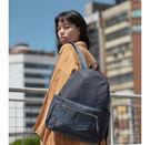 Netta城市輕盈II / 率性尼龍皮革後背包 — 知性藍 / 多功能後背包