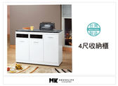 【MK億騰傢俱】AS268-01 純白4尺收納餐櫃(含石面)