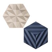 (組)丹麥ZONE FOLD系列幾何矽膠鍋墊-櫸木黃+紫羅藍