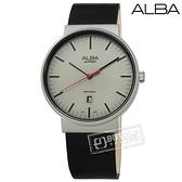 ALBA / VJ42-X269Z.AS9H45X1 / 藍寶石水晶玻璃 日期 日本機芯 真皮手錶 灰x黑 43mm