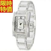 鑽錶-熱銷明星同款設計女腕錶2色5j49【巴黎精品】