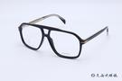 DB EYEWEAR 貝克漢設計品牌 DB 7018 (黑) 復古 雙槓 光學眼鏡 久必大眼鏡